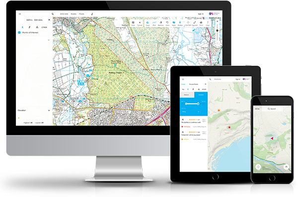 OS Maps on multiple devices