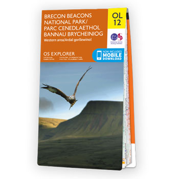 Map of Brecon Beacons National Park