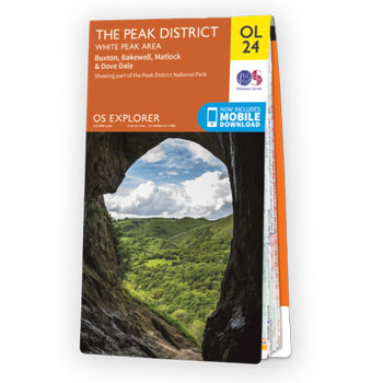 Map of Peak District